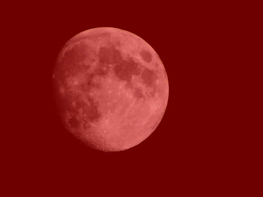 Picture of a Red Moon To Suggest A Period