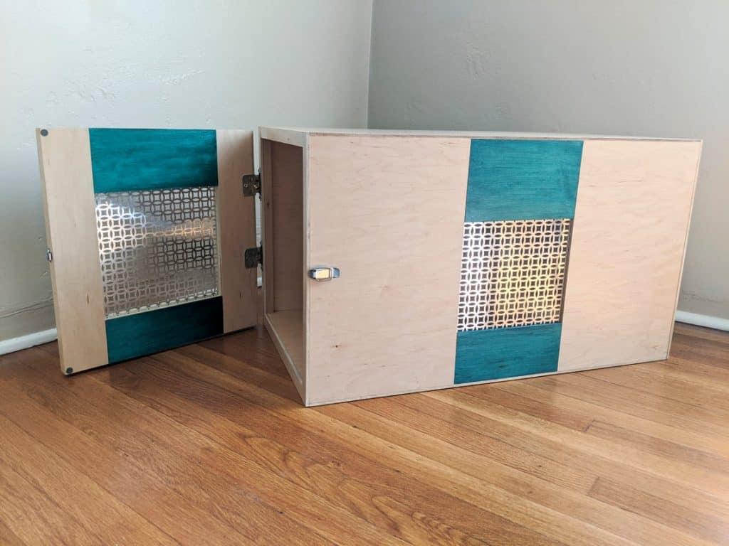 image of a modern rabbit hutch